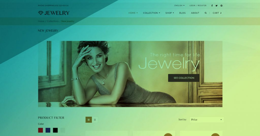 photo of a jeweler website