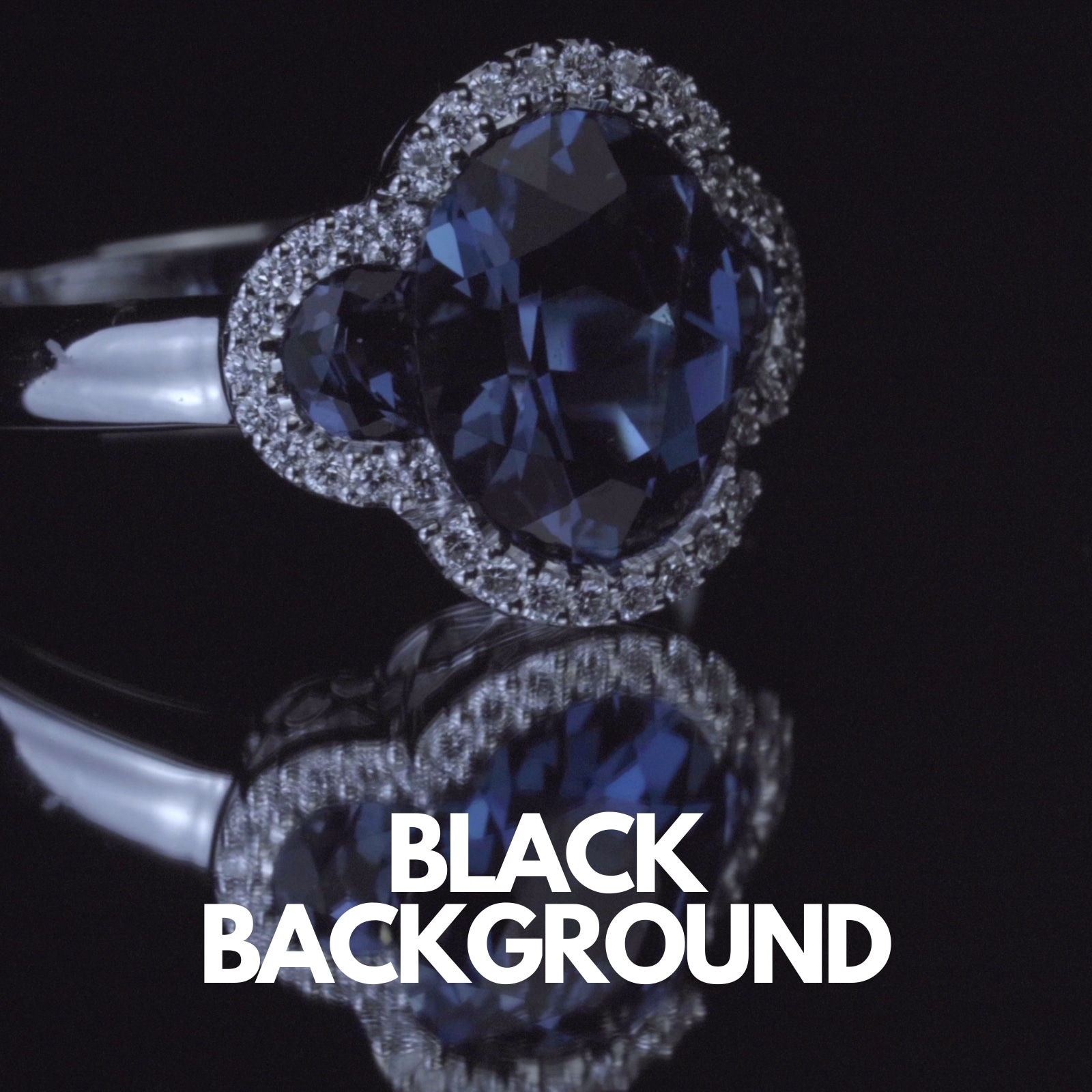 How a black background looks when shooting a piece of jewelry