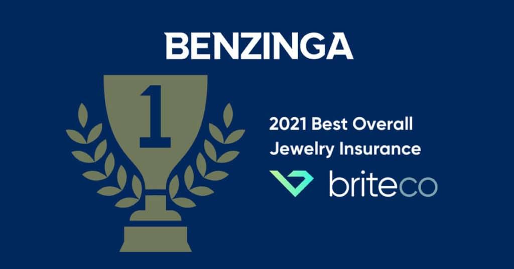 BriteCo Ranked 2021 Best Overall Jewelry Insurance by Benzinga