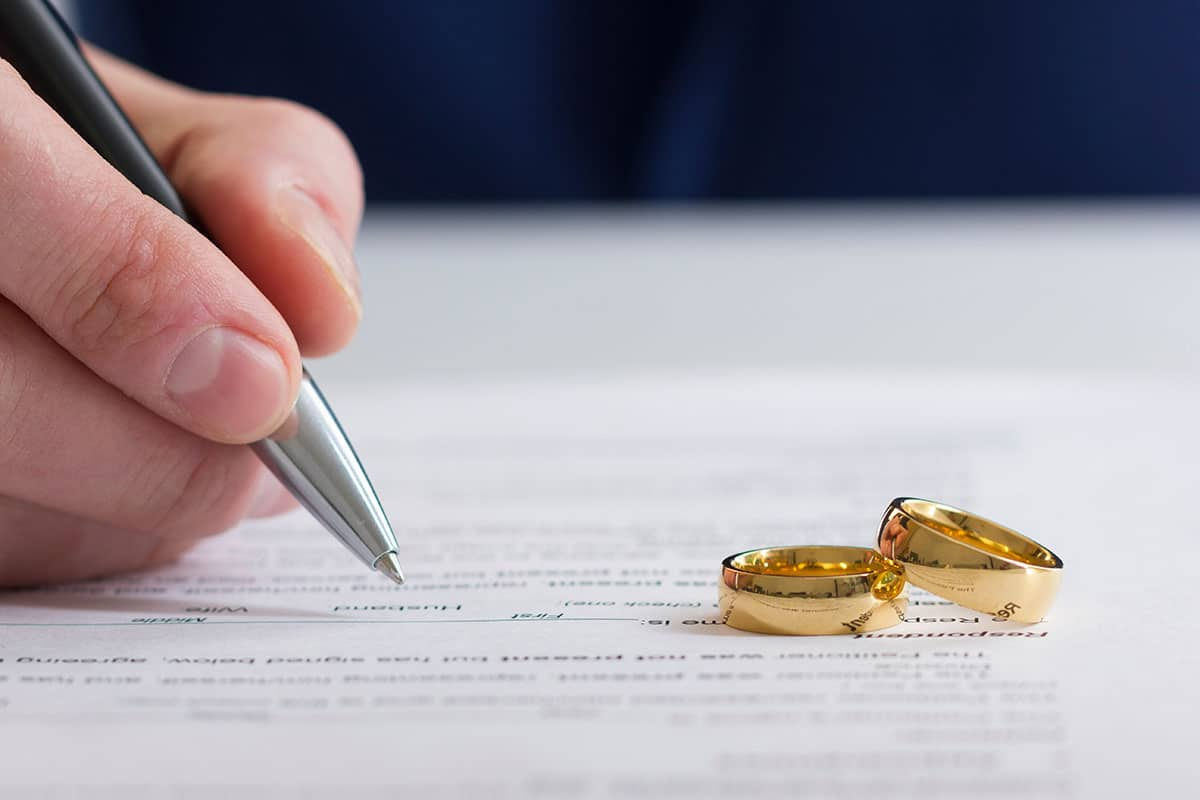 Signing up for insurance on wedding rings